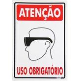 Placa Sinalizadora de Atenção Uso Obrigatório de Óculos de Proteção - ENCARTALE-PS-81