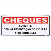 Placa Sinalizadora para Cheques Após Consulta - ENCARTALE-PS150