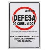 Placa Sinalização Código Defesa Consumidor  - ENCARTALE-PS645