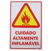 Placa Sinalizadora Cuidado Altamente Inflamável  - ENCARTALE-PS17