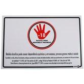 Placa Sinalização Álcool para Menores é Proibido  - ENCARTALE-PS654