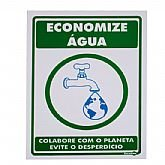 Placa Sinalizadora de Economize Água - ENCARTALE-PS-638