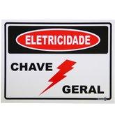 Placa Sinalizadora para Eletricidade Chave Geral  - ENCARTALE-PS126