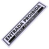Placa Sinalizadora de Entrada Proibida Bilíngue - ENCARTALE-PS-59PI