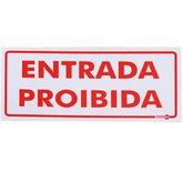 Placa Sinalizadora Entrada Proibida  - ENCARTALE-PS151