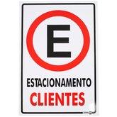 Placa Sinalizadora Estacionamento Clientes - ENCARTALE-PS02