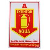 Placa Sinalizadora Extintor Água - ENCARTALE-PS89
