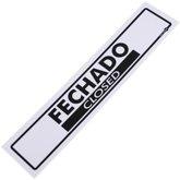 Placa Sinalizadora de Fechado Bilíngue - ENCARTALE-PS-42PI
