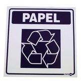 Adesivo de Parede Sinalizador Lixo Papel  - ENCARTALE-AV18