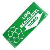 Placa Sinalizadora para Lixo Reciclável para Vidro - ENCARTALE-PS-194