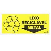 Placa Sinalizadora para Lixo Reciclável para Metal - ENCARTALE-PS-196