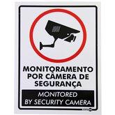 Placa Sinalizadora Monitoramento por Câmera (Bilingue) - ENCARTALE-PS-650PI