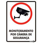 Placa Sinalizadora Monitoramento por Câmera de Segurança - ENCARTALE-PS650
