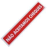 Placa Sinalizadora de Não Aceitamos Cheques  - ENCARTALE-PS-94