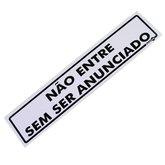 Placa Sinalizadora de Não Entre sem ser Anunciado - ENCARTALE-PS-46