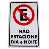 Placa Sinalizadora de Não Estacione Dia e Noite - ENCARTALE-PS-104