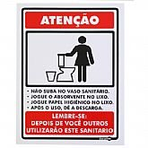 Placa Sinalizadora Atenção Não Suba no Vaso Sanitário  - ENCARTALE-PS102