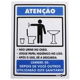 Placa Sinalizadora de Não Urine no Chão - ENCARTALE-PS-78