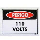 Placa Sinalizadora Perigo 110 Volts  - ENCARTALE-PS129