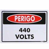 Placa Sinalizadora Perigo 440 Volts - ENCARTALE-PS133