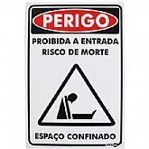 Placa Sinalização Perigo Espaço Confinado  - ENCARTALE-PS657