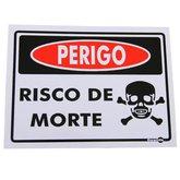 Placa Sinalizadora Perigo Risco de Morte - ENCARTALE-PS158