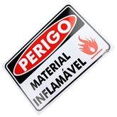 Placa Sinalizadora Perigo Material Inflamável - ENCARTALE-PS-156