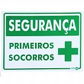 Placa Sinalizadora de Segurança Primeiros Socorros  - ENCARTALE-PS-361