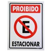 Placa Sinalização Proibido Estacionar 15 x 20 cm  - ENCARTALE-PS482