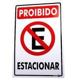 Placa Sinalização Proibido Estacionar 20 x 30 cm  - ENCARTALE-PS01