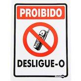 Placa Sinalizadora Proibido Celular Use Vibracall  - ENCARTALE-PS157