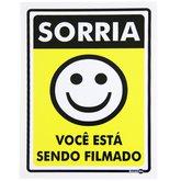 Placa Sinalizadora de Sorria Você está sendo Filmado - ENCARTALE-PS-91