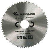 Disco de Serra Circular em Aço Carbono de 4.3/8 Pol. com 80 Furos para Madeira - CARBOGRAFITE-12477112