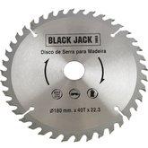 Disco de Videa para Madeira 180 x 22,3 mm - 40 Dentes - BLACK JACK-J381