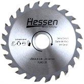 Disco de Serra Circular de 4-3/8 Pol. para Madeira - 24 Dentes - HESSEN-28223