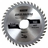 Disco de Serra Circular de 4.1/2 Pol. para Madeira - 40 Dentes - UYUSTOOLS-DMA117