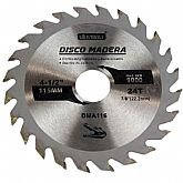 Disco de Serra Circular de 4.1/2 Pol. para Madeira - 24 Dentes - UYUSTOOLS-DMA116