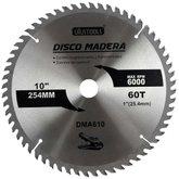 Disco de Serra Circular de 10 Pol. para Madeira - 60 Dentes - UYUSTOOLS-DMA610
