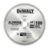 Disco de Serra Circular de 12 Pol. para Alumínio/Madeira - 100 Dentes - DEWALT-DW03240