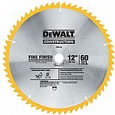 Disco de Serra Circular de 12 Pol. para Madeira - 60 Dentes - DEWALT-DW3126