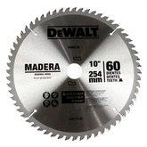 Disco de Wídea de 10 Pol. para Madeira - 60 Dentes - DEWALT-DW03120