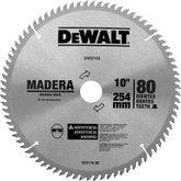 Disco de Serra Circular de 10 Pol. para Madeira - 80 Dentes - DEWALT-DW03130