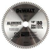 Disco de Serra Circular de 10 Pol. para Madeira - 80 Dentes - DEWALT-DW03210