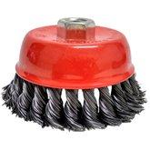 Escova de Aço Tipo Copo Trançada 4 Pol. - HESSEN-27095