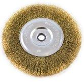 Escova Circular em Aço Carbono Latonado de 6 x 1/2 Pol. - LOYAL-ESCOVA6X1/2