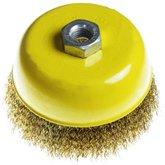 Escova de Aço tipo Copo com Fio Reto 5 Pol. - UYUSTOOLS-EBC005