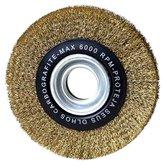 Escova de Aço Circular Ondulada Latonado 6 x 1 Pol. - CARBOGRAFITE-012257812
