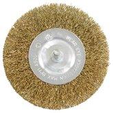 Escova Circular em Aço Carbono Latonado 100mm - LOYAL-04402012