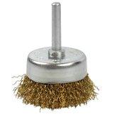 Escova Tipo Copo em Aço Carbono Latonado de 50mm Fio 0,30 - LOYAL-04409009