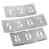 Jogo de Algarismo de 35mm em Chapas Vazadas - NOLL-1360002